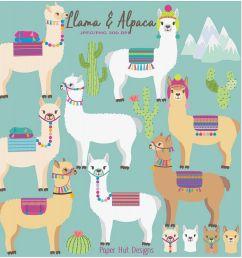 llama and alpaca clipart example image 1 [ 1200 x 800 Pixel ]
