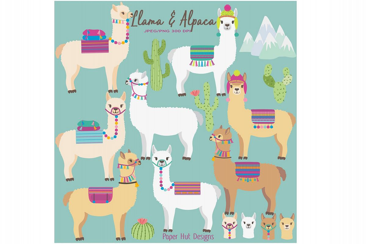 hight resolution of llama and alpaca clipart example image 1