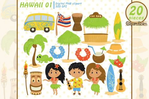 small resolution of hawaii clipart luau art travel tiki clip art example image 1