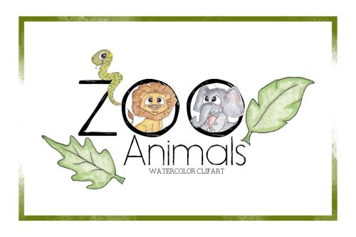 small resolution of zoo clipart watercolor clipart animal clipart cute cartoon zoo animals
