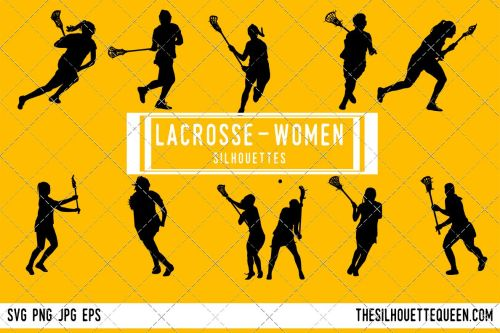 small resolution of woman lacrosse silhouette female player svg png eps ai example image 1