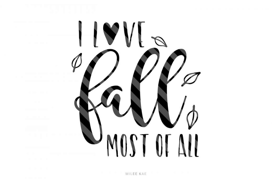 Download I love fall, Cutting file, SVG, PNG, EPS