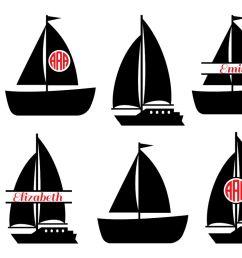 boat svg cut files sailboat monogram svg sailboat svg boat monogram svg  [ 1200 x 800 Pixel ]