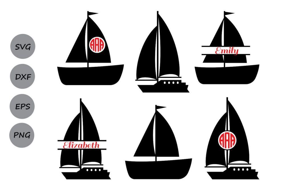 medium resolution of boat svg cut files sailboat monogram svg sailboat svg boat monogram svg