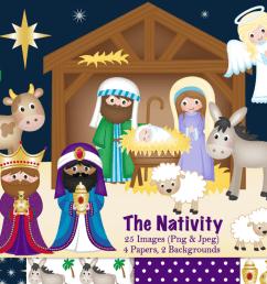 nativity clipart christmas nativity nativity scene example image 1 [ 1200 x 799 Pixel ]