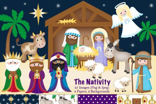 small resolution of nativity clipart christmas nativity nativity scene example image 1