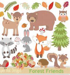 woodland animals clipart example image 1 [ 1200 x 800 Pixel ]