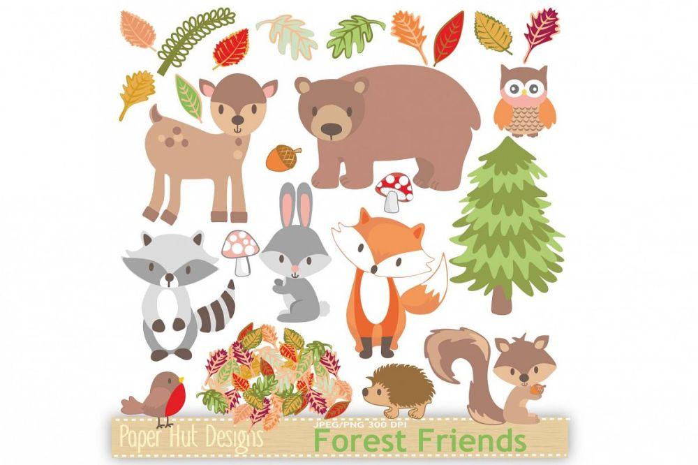 medium resolution of woodland animals clipart example image 1