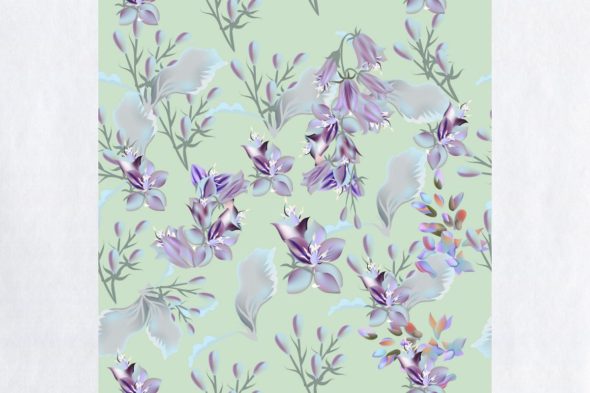 floral vector pattern with