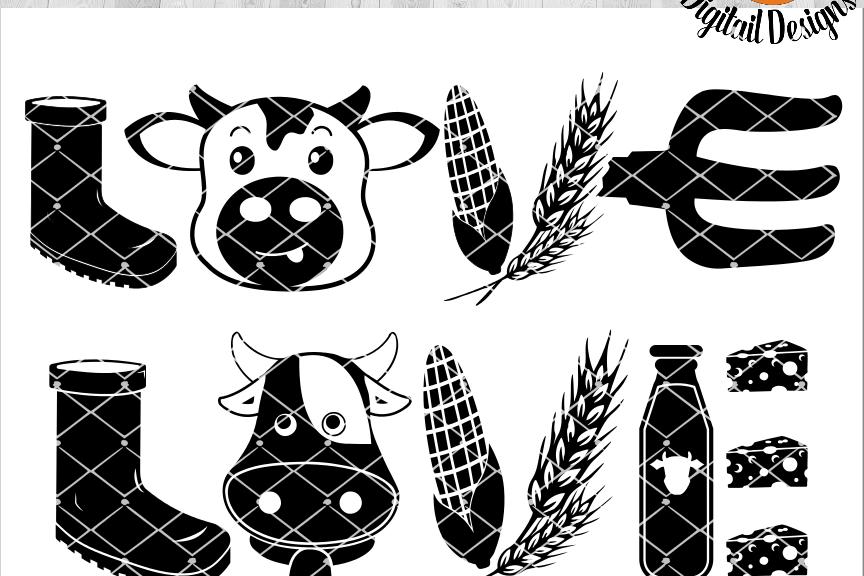 Download Cow Love SVG - png - eps - dxf - ai - fcm - Farm House SVG ...
