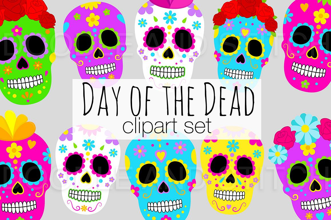 hight resolution of day of the dead clipart illustrations example image 1