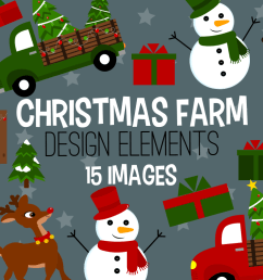 christmas farm graphics illustrations clipart example image 1 [ 1158 x 772 Pixel ]