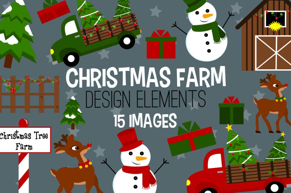 medium resolution of christmas farm graphics illustrations clipart example image 1