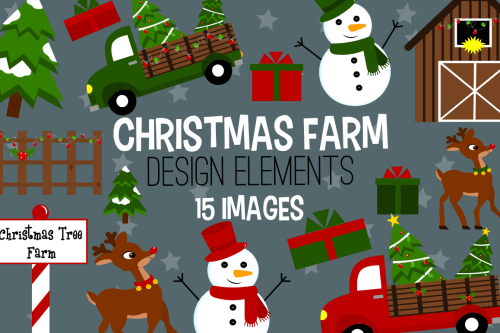 small resolution of christmas farm graphics illustrations clipart example image 1