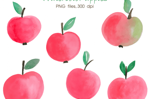 small resolution of watercolor apple digital watercolour hand painted clipart apple clip art autumn clipart