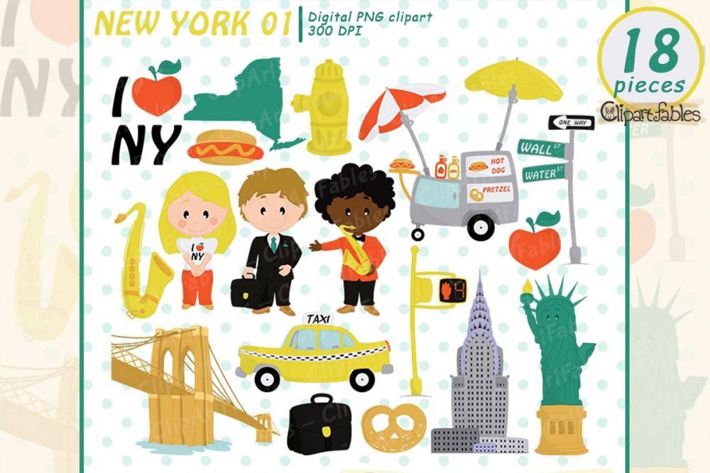 medium resolution of new york clipart travel in the usa i love ny digital art example image