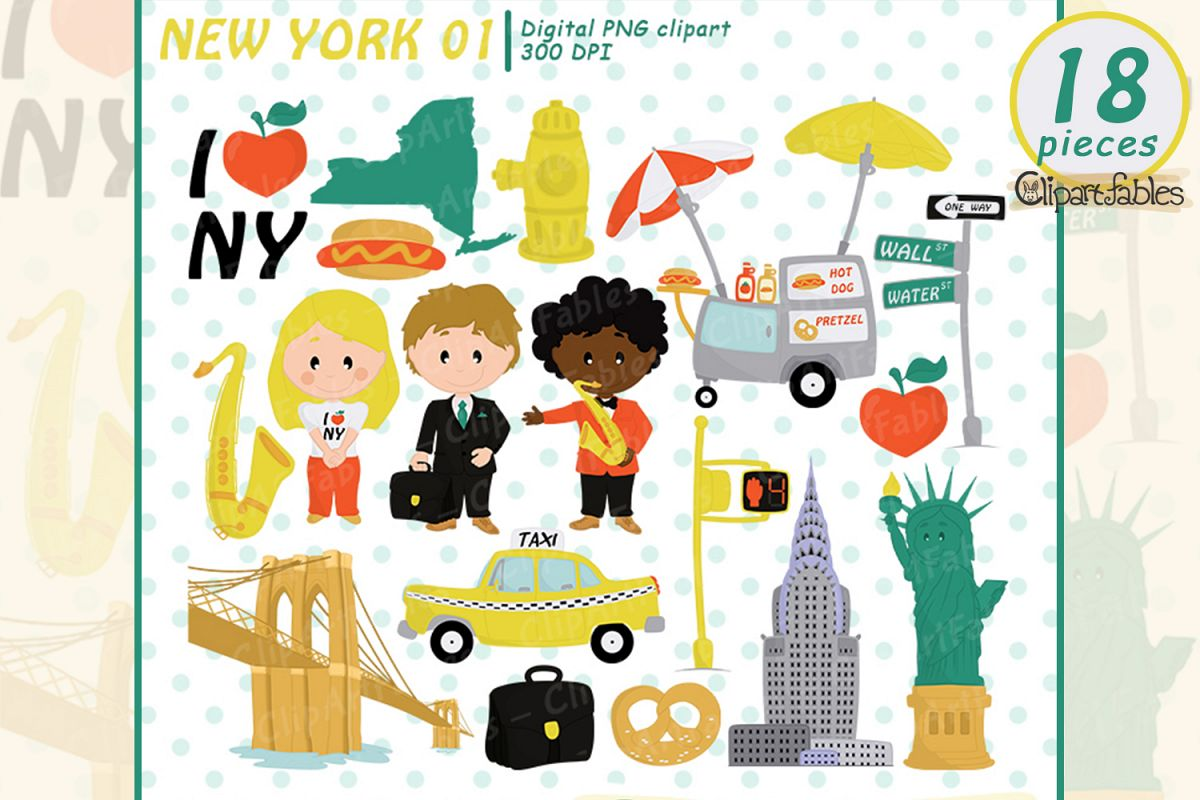 hight resolution of new york clipart travel in the usa i love ny digital art example image