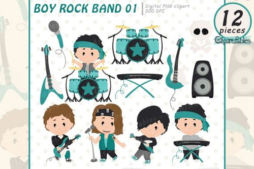 small resolution of boy rock star clipart music clip art instant download example image 1