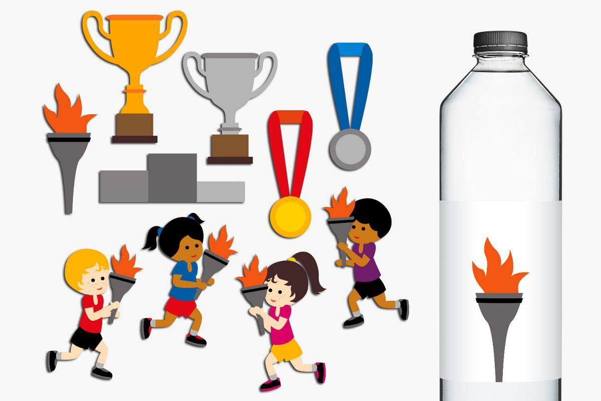 hight resolution of summer sport running marathon torch clip art graphics example image 1