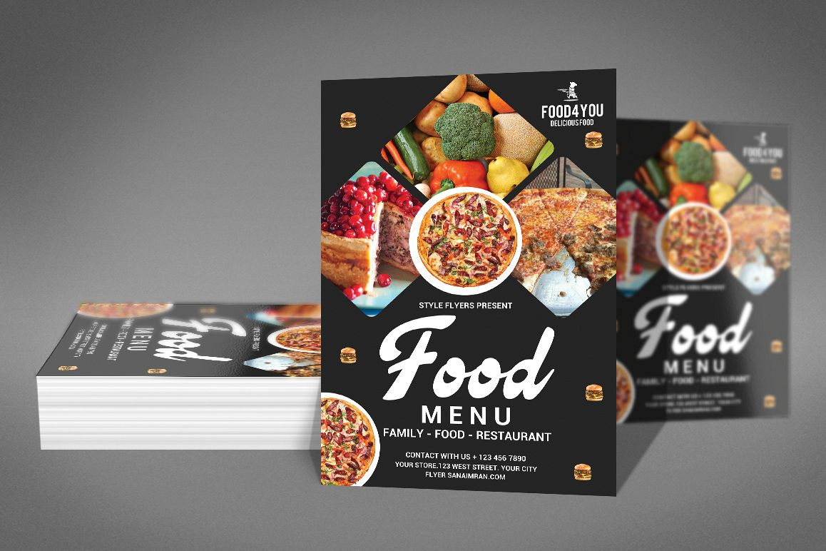 menu flyer design