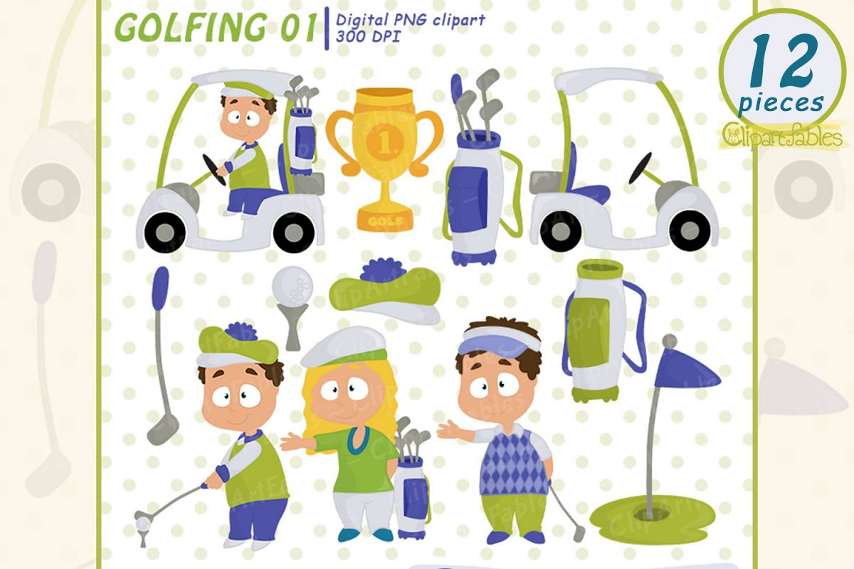 hight resolution of golf clipart cute golfing design golfing girls and boys example image 1