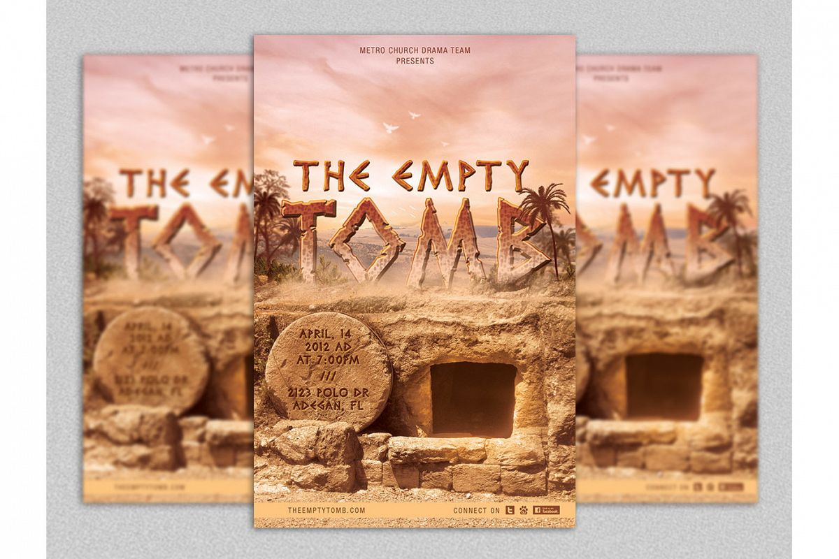 Empty Tomb Easter Flyer Template Example Image