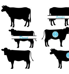 cow svg cow monogram svg farm animal cow cow cut file digital [ 1200 x 800 Pixel ]