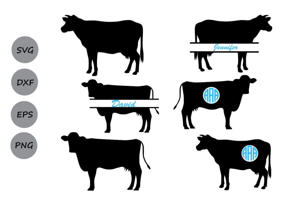 medium resolution of cow svg cow monogram svg farm animal cow cow cut file digital