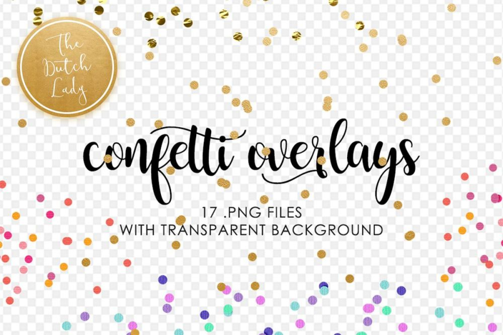medium resolution of golden confetti clipart overlays example image 1