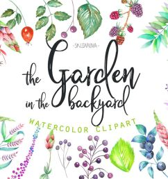 the garden in the backyard clipart example image 1 [ 1158 x 772 Pixel ]