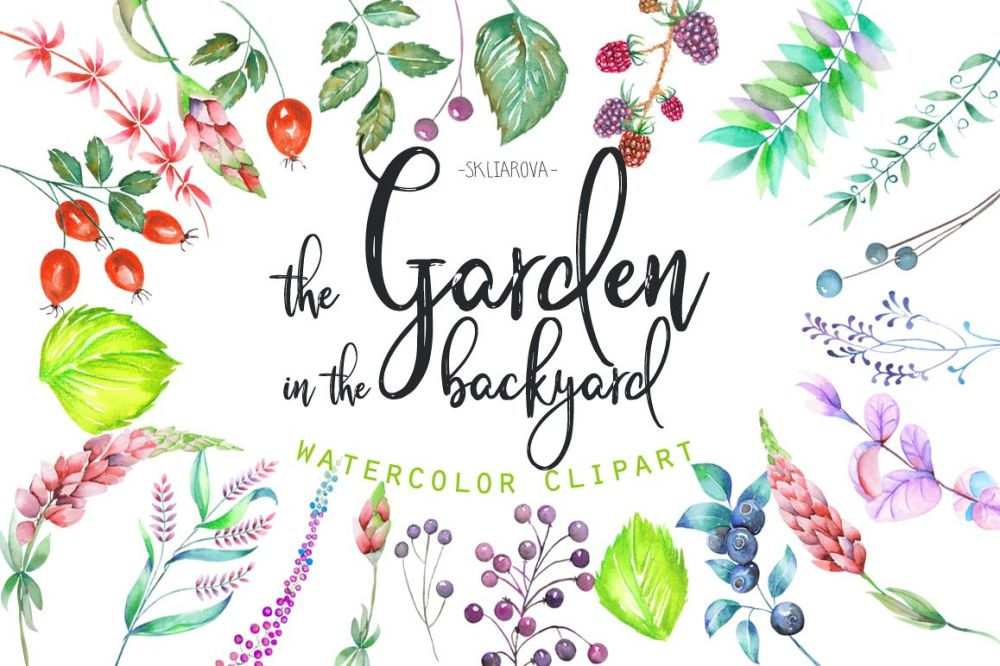 medium resolution of the garden in the backyard clipart example image 1