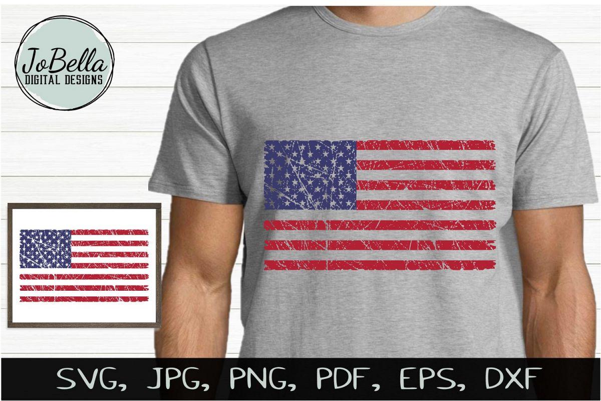 grunge american flag svg