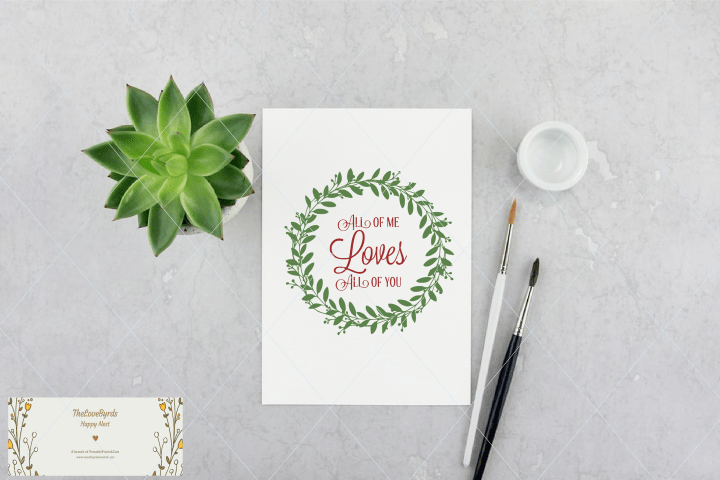 Download Hand drawn svg, wreath svg, all of me loves all of you svg ...