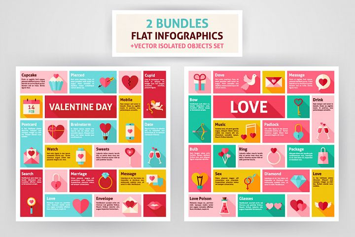 Valentine Day & Love Infographics example 1