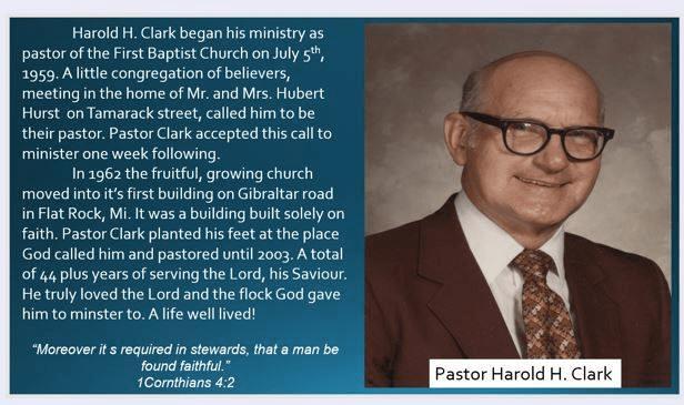 pastor harold clark