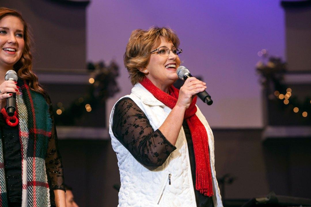 Choir member singing