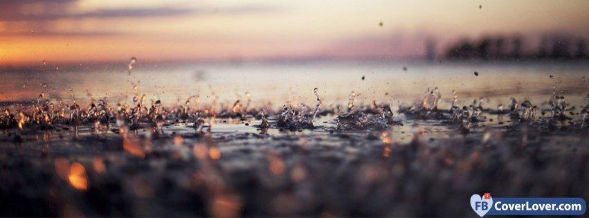 Rain Drops Landscape Nature And Landscape Facebook Cover