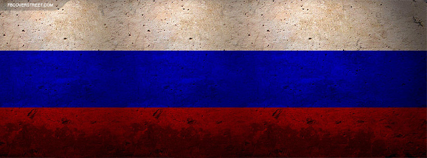 Russian Flag Concrete Wall 2 Facebook Cover