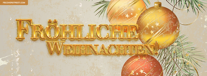 Frohliche Weihnachten German Merry Christmas Facebook