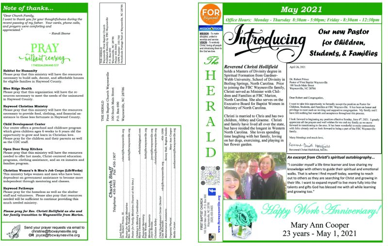 Newsletter May 2021 1 scaled First Baptist Church