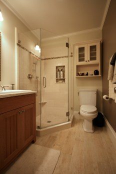 Include a walk-in shower in the first floor bathroom