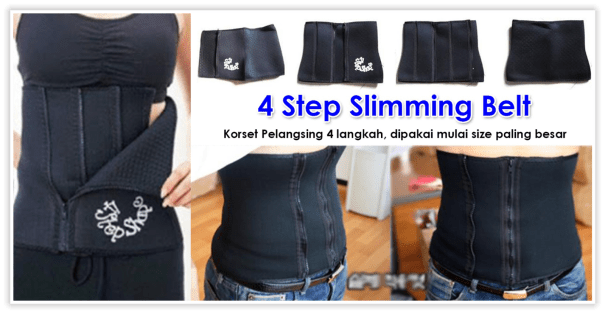 4 Step Shape Slimming Belt Korset Pelangsing Murah