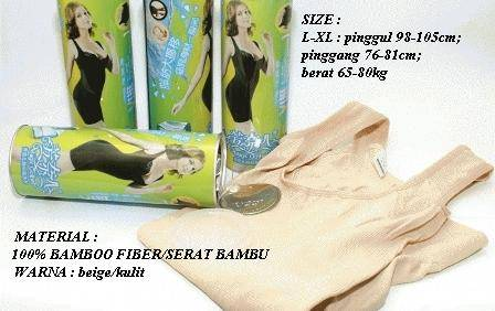 natural bamboo slimming suit termurah