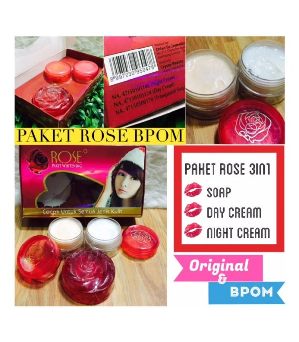 paket cream rose 3in1 bpom