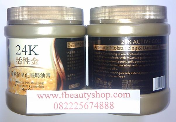 Masker Rambut 24K Active Gold Hair Mask