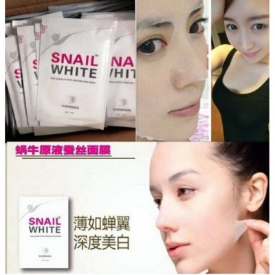 snail white mask 1pack isi 3pc original