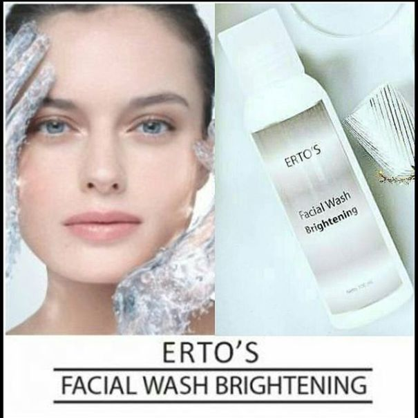 ertos facial wash brightening komposisi