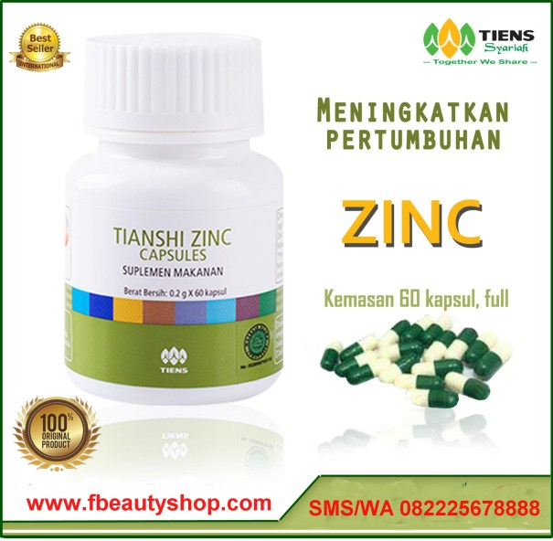 Manfaat Tianshi Zinc Capsule