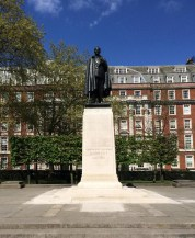 Statue honoring President Franklin D. Roosevelt in London's Grosvenor Square across from the old American Embassy.