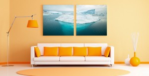 Iceberg Diptych Photo Prints - Turn your photos into diptychs for big presence in a room!